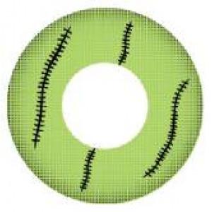 Green Stitch Mini Sclera 17mm