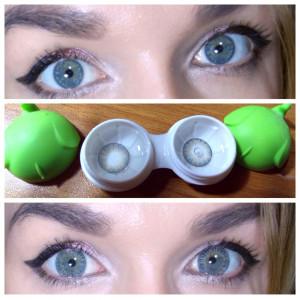 Rainbow Eyes Grayish Blue
